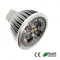 Lampe Powerled 12v 6w GU5.3 40000h blanc brillant