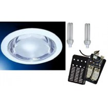 Downlight fluocompact rond 2x13w complet avec lampes et ballast
