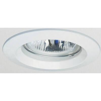 Spot à encastrer rond fixe blanc pour lampe GU10 et Gu5.3 diam de trou 55mm