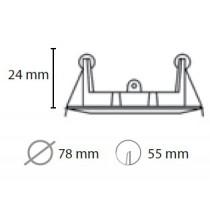 Spot à encastrer rond fixe blanc pour lampe GU10 et Gu5.3
