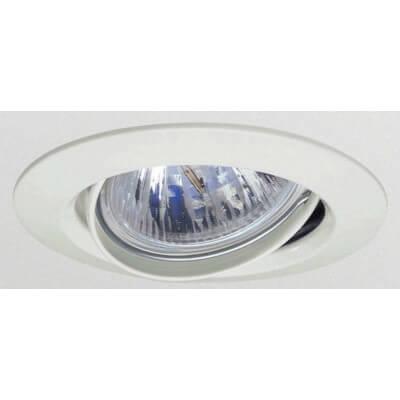 Spot à encastrer rond orientable blanc pour lampe GU10 et Gu5.3