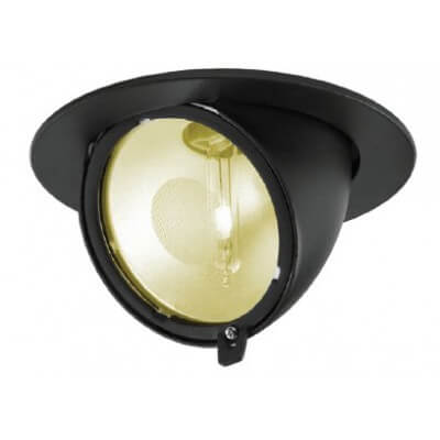 TECHNO projecteur encastrable iodure NOIR G12 70w orientable diam 170mm
