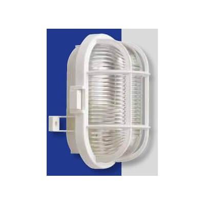 Applique KOBI 1* E27 100W IP44 étanche ovale avec grille de protection