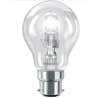 Philips EcoClassic30 53W B22 230V A55 CL 1CT 942668