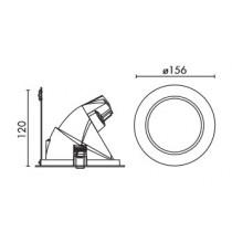 Projecteur mini rond orientable G8.5 70w complet