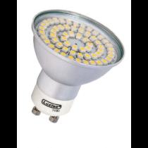 Luxtek SMD 60 LED's  lampe LED 230V 5W GU10 blanc chaud