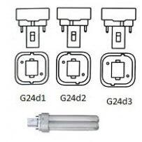 Culot  G24d ou 2broches lampe fluocompacte