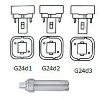 Lampe fluocompact G24d 2broches