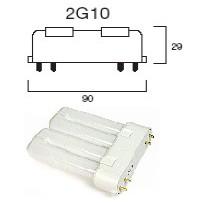 Culot 2G10, 4 broches lampe fluocompacte