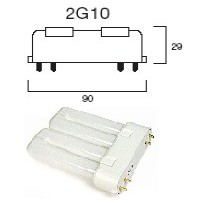 Lampe fluocompact 2G10 4broches