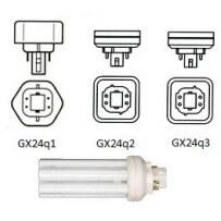 Culot GX24Q, 4broches lampe fluocompacte