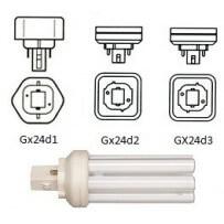 Culot GX24D, 2broches lampe fluocompacte