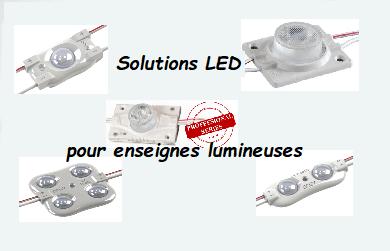 Gemme de chaines de modules pour enseignes lumineuses
