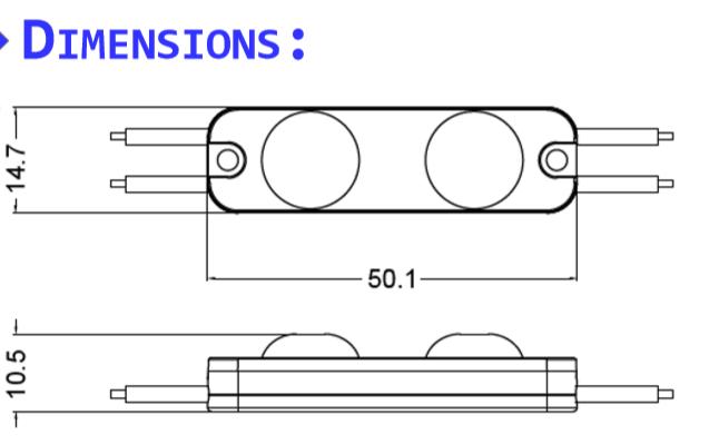 dimensions module HE-2W-LENS170